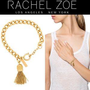 🆕 RACHEL ZOE Tassel Chain Bracelet NWT